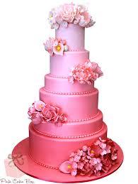 3 Tier Pink Shaded Wedding Cake 1