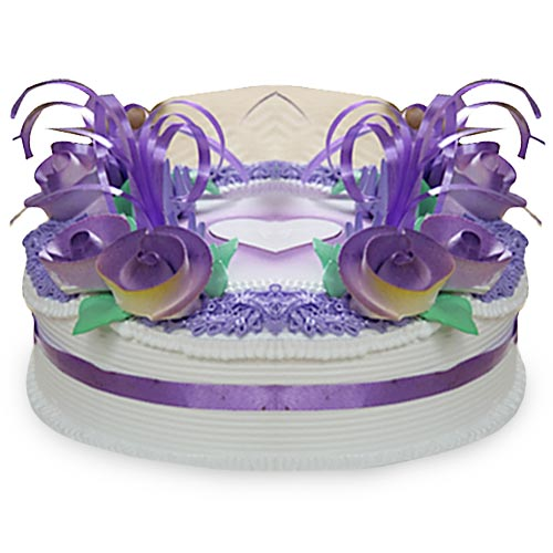 Purple Rose Cake 1