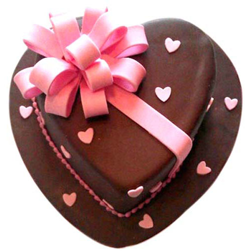 Truffle-Heartshape-Cake