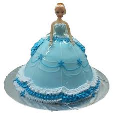 Blue Baby Doll Cake