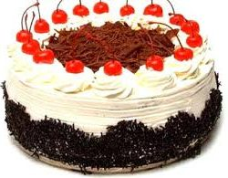 Black Forest With Cream & Cherry